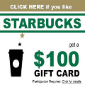 120x120 - Claim YOUR $100 Starbucks
